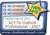 ACT-To-Outlook Professional - 2007 is 100% SAFE